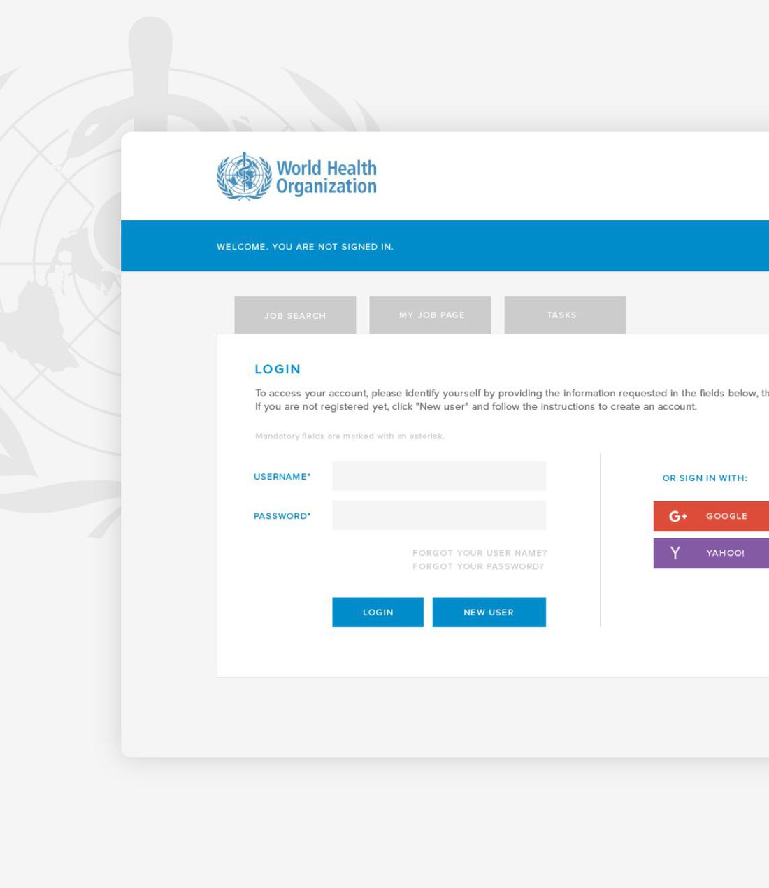 The World Health Organization Recruitment System